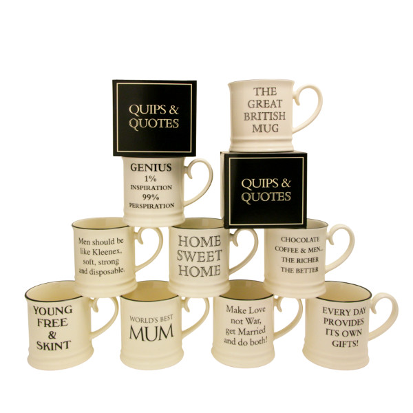 Quips & Quotes Tankard Mugs