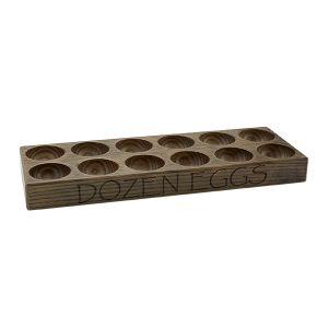 Ash Wood Twelve Egg Block