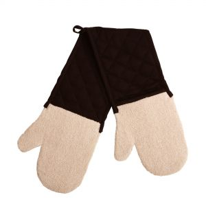 Brights Better Grip Double Oven Mitt, Solid Black