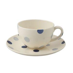 Blue Spot Cup & Saucer