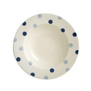 Blue Spot Pasta Plate