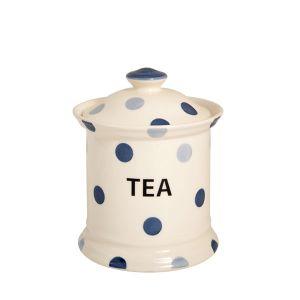 Blue Spot Tea Storage Jar