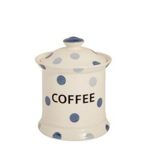 Blue Spot Coffee Storage Jar