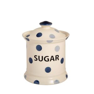Blue Spot Sugar Storage Jar