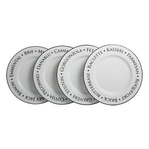 Set of four World Cheese Plates
