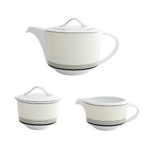 Deco Teapot, Sugar & Cream Set