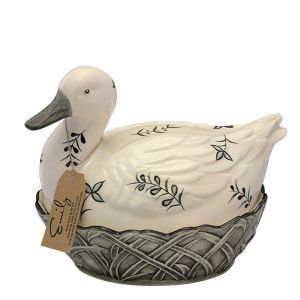 Egg Holder - Emily Duck - Black Leaves