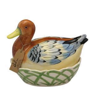 Egg Holder - Helen Duck - Brown & Blue