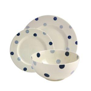 Blue Spot Dinner Set