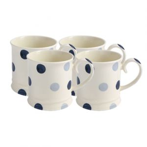Blue Spot Mug Set