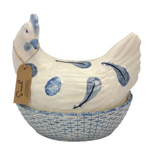 Egg Holder - Sarah Hen - Blue Feather