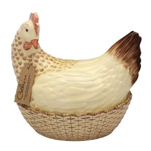 Egg Holder - Catherine Hen - Brown & Cream