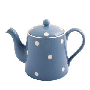 Kitchen Spot Teapot, Delph Blue