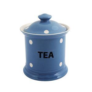 Kitchen Spot Tea Storage Jar, Delph Blue