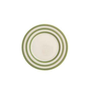 Kitchen Stripe Dessert Plate, Apple Green