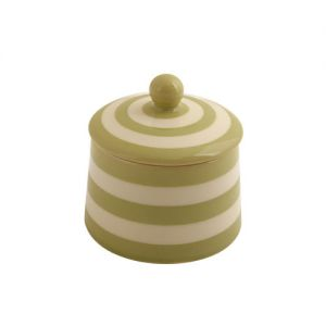 Kitchen Stripe Covered Sugar, Apple Green