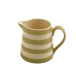 Kitchen Stripe Creamer, Apple Green