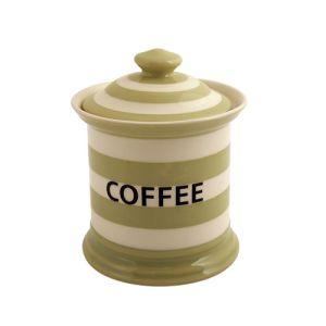 Kitchen Stripe Coffee Storage Jar, Apple Green