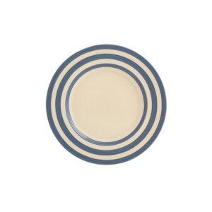 Kitchen Stripe Dessert Plate, Delph Blue