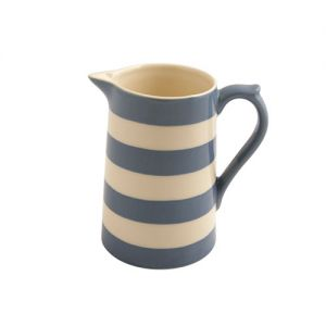 Kitchen Stripe Medium Jug, Delph Blue