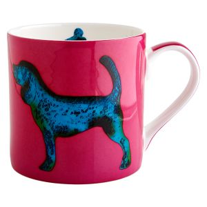Dog Fuschia Mug - Julie Steel Designs