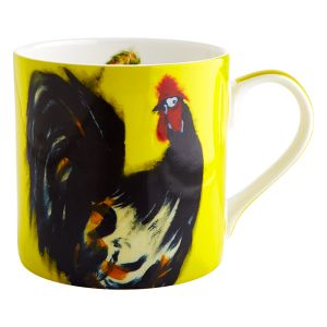 Cockerel Yellow Mug - Julie Steel Designs