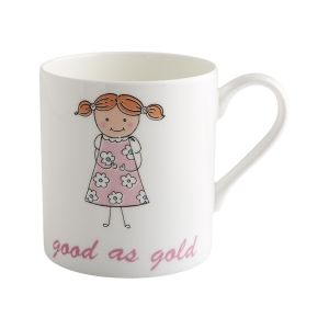 Little Angels - Gold - China Mug