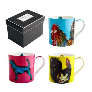 Bright - Set of Three Julie Steel Design Mugs