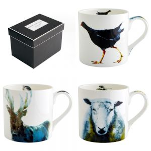 Animals - Set of Three Julie Steel Design Mugs