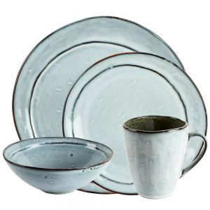 Misty Dinner Set with Mugs