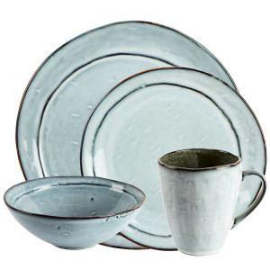 Misty Dinner Set with Mugs