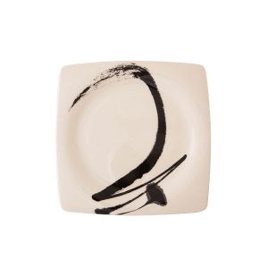 Paint It Black Dessert Plate