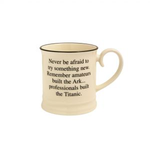 Quips & Quotes Tankard Mug - Never be afraid to try