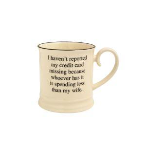 Quips & Quotes Tankard Mug - Credit Card