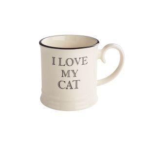 Quips & Quotes Tankard Mug - I Love My Cat