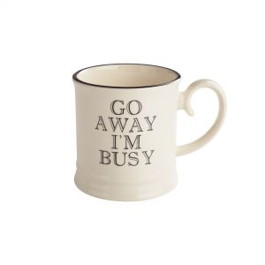 Quips & Quotes Tankard Mug - Go Away I'm Busy