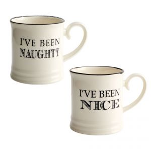 Quips & Quotes Christmas Mug Pack - I've Been Naughty / Nice
