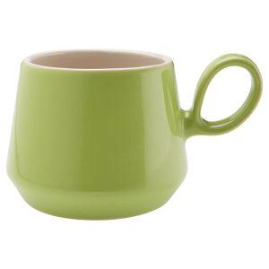 Retro Flared Lime Green Mug