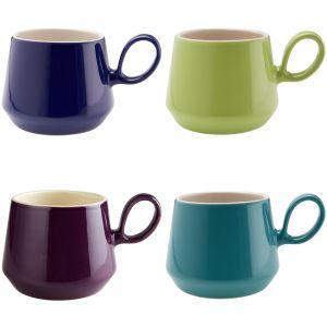 Retro Flared Mixed Mug Set
