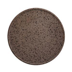 Raw Plate 28.5cm Granite