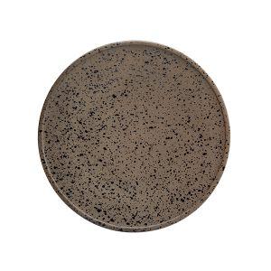 Raw Plate 25.5cm Granite