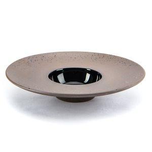 Raw Wide Rimmed Bowl 29cm Granite - Profile