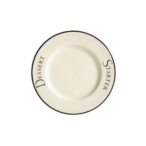 Script Dessert Plate