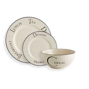 Script Dinnerware Set