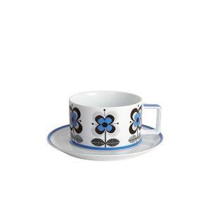 Stockholm Blue Teacup & Saucer