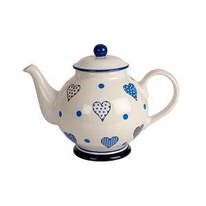 Take Heart - Blue - Teapot