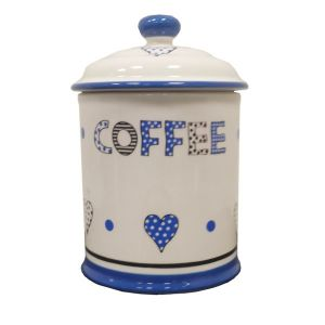 Take Heart Blue - Coffee Storage Jar
