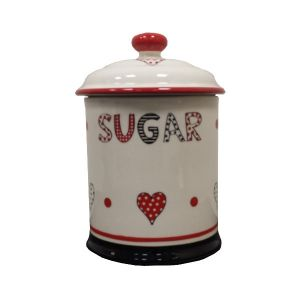 Take Heart Red - Sugar Storage Jar